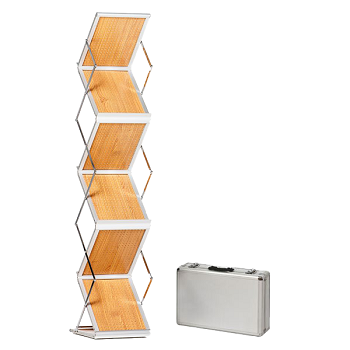 Wooden catalogue shelf